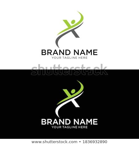 Logo logotípus levél férfi ikon vektor Stock fotó © blaskorizov