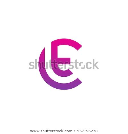 Roxo ícone carta logotipo vetor Foto stock © blaskorizov