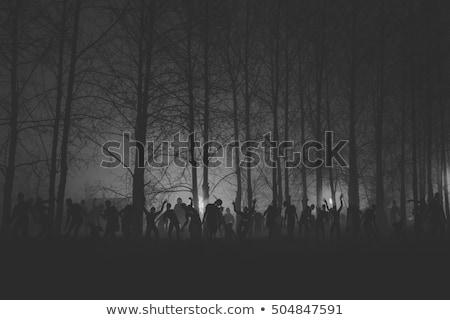 Zumbi floresta ilustração árvore lua fundo Foto stock © bluering