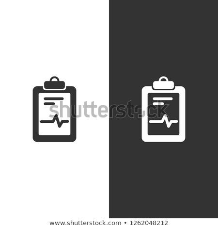 Orvosi diagram ikon feketefehér kardiogram jelentés Stock fotó © Imaagio