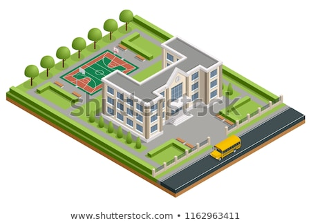 College Building Vector. Modern University Academy. Isolated Flat Cartoon Illustration Stock photo © pikepicture