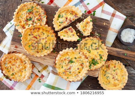 little quiche with parsley stock photo © barbaraneveu