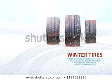 scivoloso · strada · vettore · segno · strada · neve - foto d'archivio © robuart