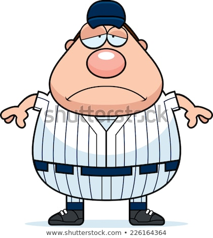 Sfinito cartoon giocatore di baseball illustrazione uomo esecuzione Foto d'archivio © cthoman