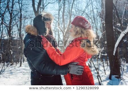 ensolarado · inverno · dia · parque · estrada · madeira - foto stock © kzenon