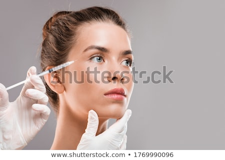 Mulher botox pele injeção ilustração olho Foto stock © colematt