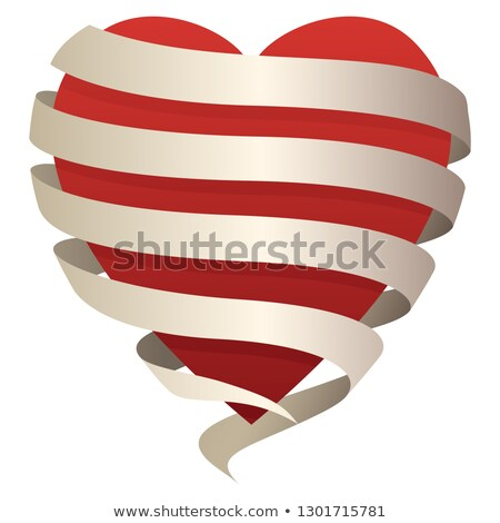 Belo romântico coração bandeira perfeito Foto stock © jeff_hobrath