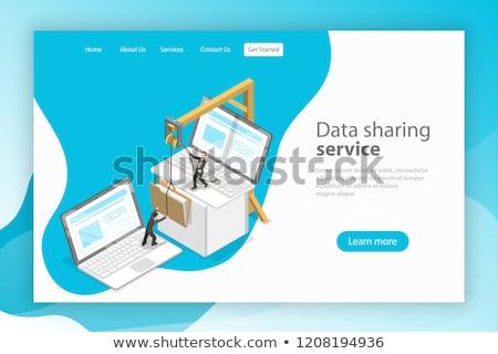 файла · передача · изометрический · вектора · Стрелки - Сток-фото © tarikvision