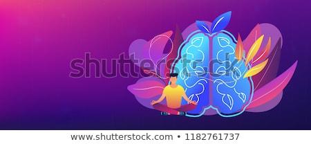 Calmness and releasing stress concept header banner. Stock photo © RAStudio
