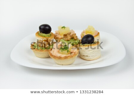 Several beautiful tartlets with different fillings Stock photo © Imaagio