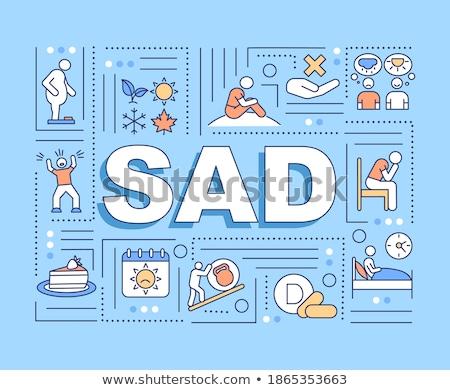 Seasonal affective disorder concept banner header. Stock photo © RAStudio
