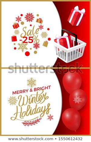 reclame · ballonnen · decoratie · banner · sterren - stockfoto © robuart