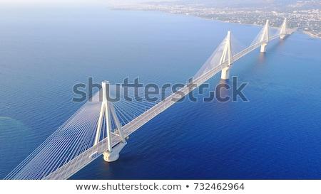 View of Patras and Rio Antirrio bridge Stock fotó © neirfy