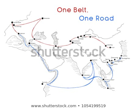 Сток-фото: One Belt One Road New Silk Road Concept 21st Century Connectivity And Cooperation Between Eurasian