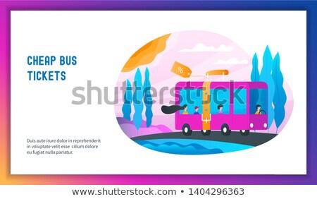 A buon mercato bus biglietti passeggeri strada Foto d'archivio © Genestro