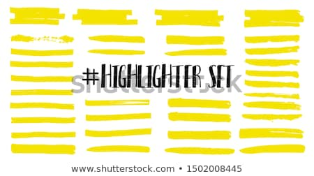 Highlight Marker yellow line, color stroke, highlighter brush pen hand drawn underline. Vector Stock photo © Andrei_