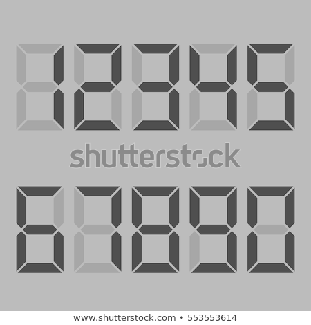 Digits Display. Electronic figures. The dial on a white background. vector Stock photo © Andrei_