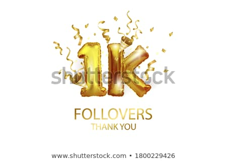 one thousand 1000 with balloon banner vector stock photo © pikepicture