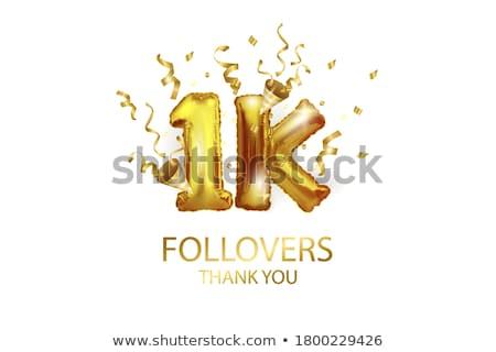 Een duizend 1000 ballon banner vector Stockfoto © pikepicture