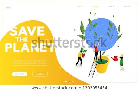 wereldbol · bladeren · eenvoudige · icon · kaart · wereld - stockfoto © robuart