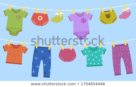 Baby and Clothes to Wear, Kid in Diaper Isolated Stock photo © robuart