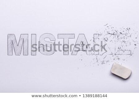 apagador · palavra · erro - foto stock © andreypopov