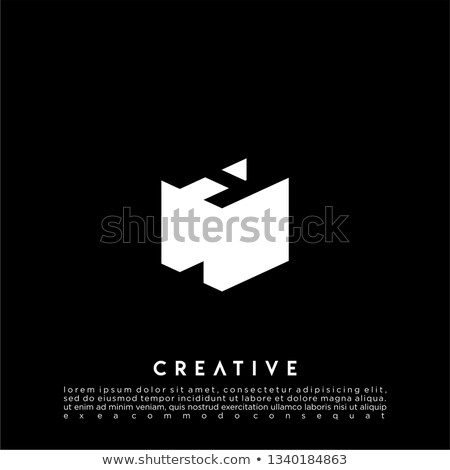 Line font with shadow Letter H 3D Stock photo © djmilic