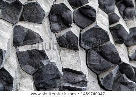 Wulkaniczny bazalt szary charakter tle górskich Zdjęcia stock © grafvision