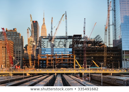 Construction Site with New Home Framing Stock photo © feverpitch