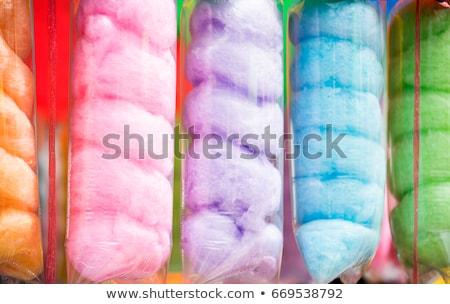 Pluizig paars kleur katoen snoep vakantie Stockfoto © robuart