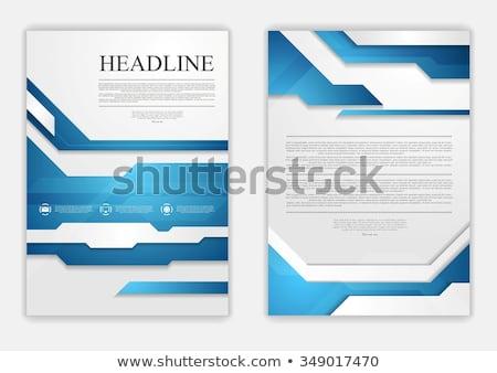 Elegáns mértani kék szürke üzlet háttér Stock fotó © SArts