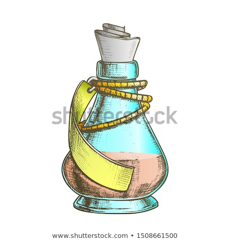 Creative Potion Glass Bottle Phial Ink Vector Stock photo © pikepicture