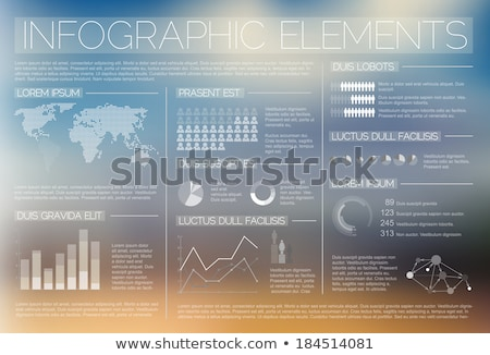 set of transparent vector graphs and diagrams stock photo © robuart