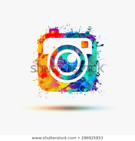 акварель камеры иллюстрация старые фильма Сток-фото © unkreatives