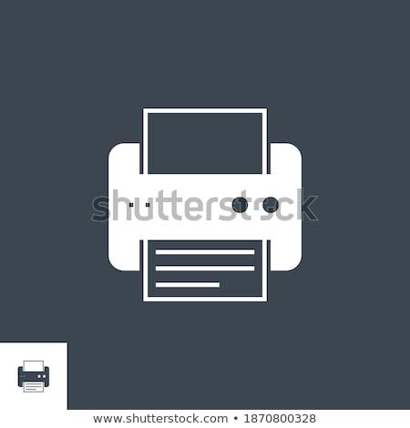 Printer related vector glyph icon. Stock photo © smoki