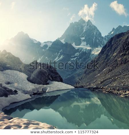 Alpine manzara göl dağ vadi manzaralı Stok fotoğraf © lichtmeister
