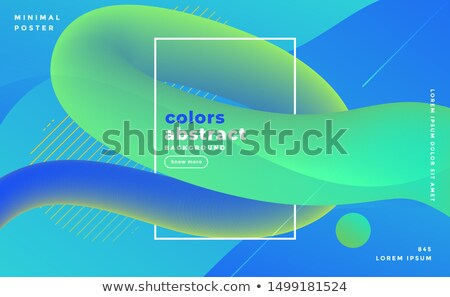 bluish abstract fluid loop banner design background Stock photo © SArts
