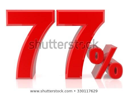 Zeven procent witte geïsoleerd 3D 3d illustration Stockfoto © ISerg