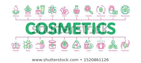 Orgánico cosméticos mínimo infografía banner vector Foto stock © pikepicture
