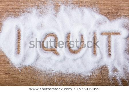 I Quit Written On Sugar Stock photo © AndreyPopov
