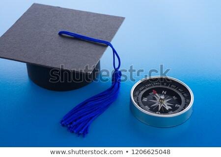 Afstuderen cap kompas grijs college keuze Stockfoto © AndreyPopov