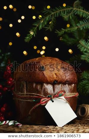 traditional panettone for christmas stock photo © brebca