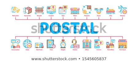 Postal Transportation Company Minimal Infographic Banner Vector Stock photo © pikepicture