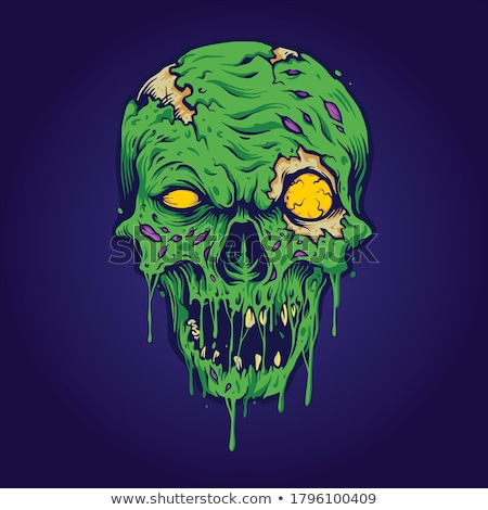 Horror monster poster vector eps 10 Stockfoto © rwgusev