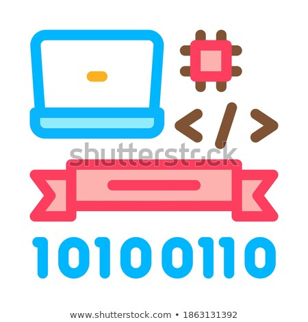 Computer Programming Graduation Icon Vector Outline Illustration Stock photo © pikepicture