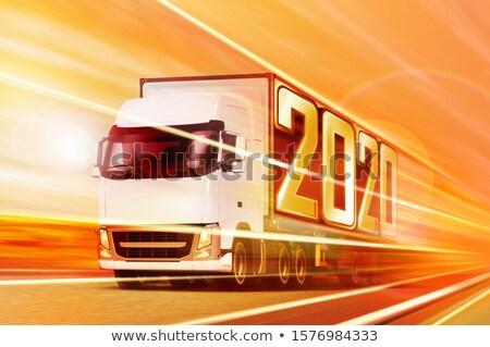 semi truck like incoming year 2020 Stock photo © ssuaphoto