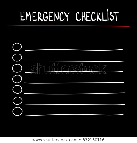 Hands Hurricane Check List Illustration Stock photo © lenm