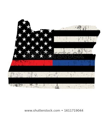 Oregon policji strażak wsparcia banderą ilustracja Zdjęcia stock © enterlinedesign