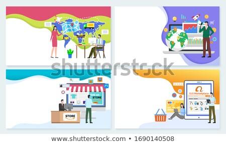 B2 Online Trading Marketplace. Buy, World Platform Stock photo © robuart