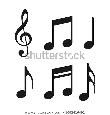 Treble Clef And Musical Notes Opera Element Vector Stock photo © pikepicture